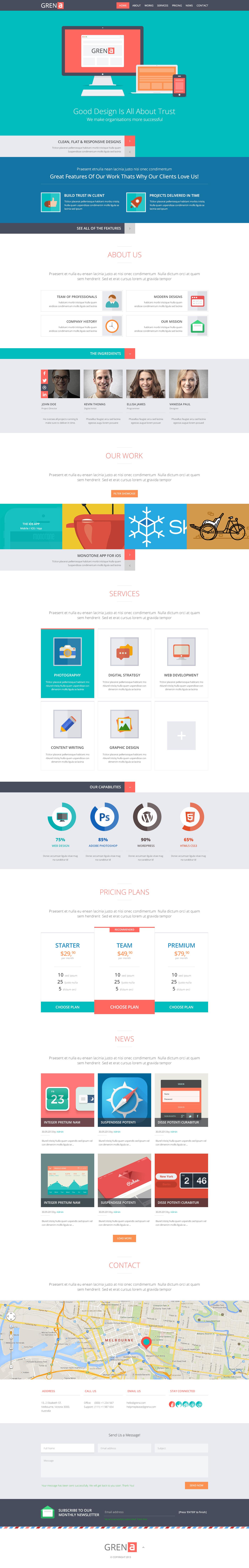 Grena | Multi-Purpose Parallax PSD Landing Page