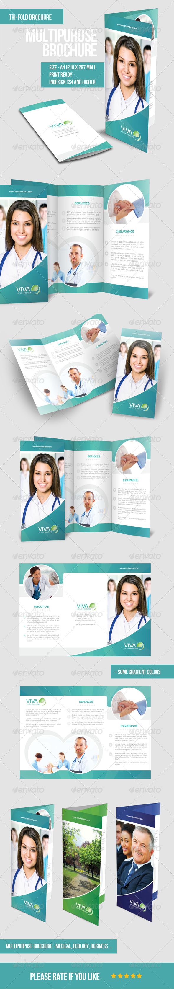 GraphicRiver Multipurpose Tri-fold Brochure 5741782