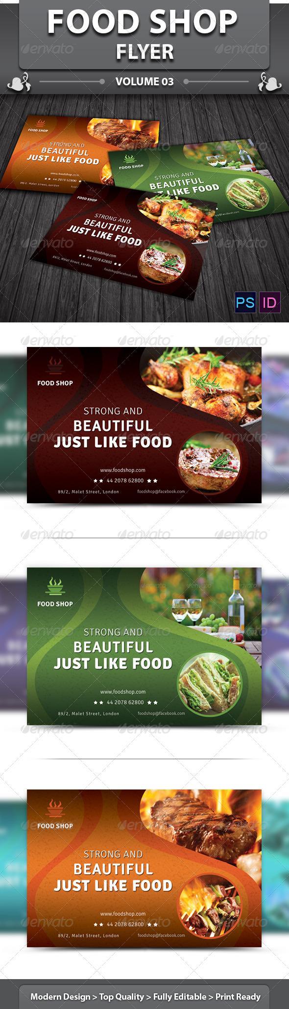 GraphicRiver Food Shop Flyer v3 5741815
