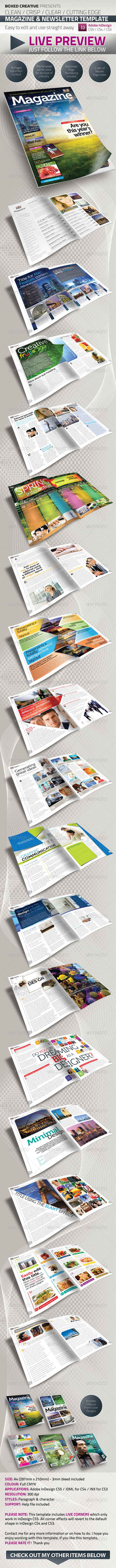 GraphicRiver 36 Page Magazine Newsletter Template 427849