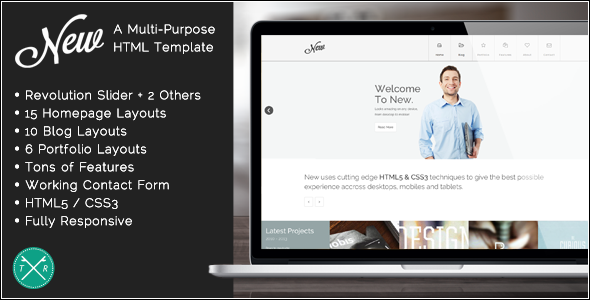 New - Multipurpose Responsive HTML5 Template