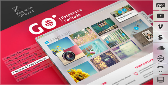 CodeCanyon Go Responsive Portfolio for WP 5741904