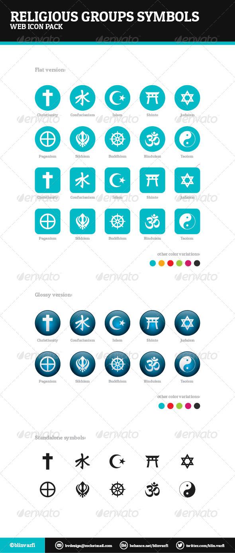 GraphicRiver Religious Groups Symbols 5741952