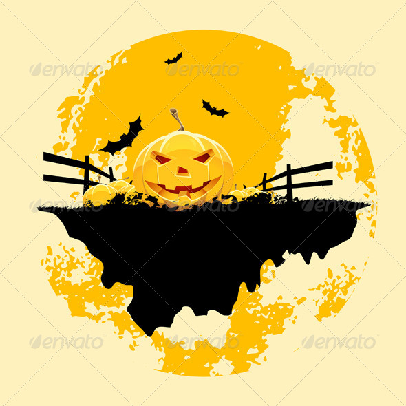 GraphicRiver Grungy Halloween Background 5741961