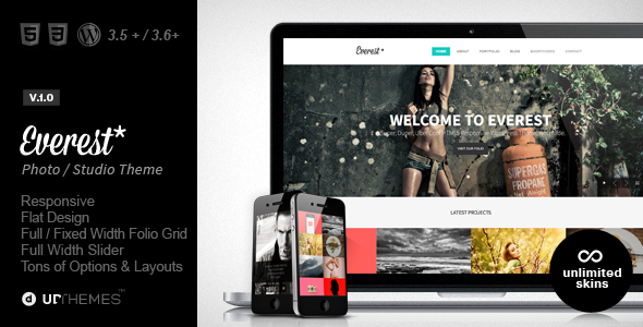 ThemeForest Everest Responsive Portfolio WordPress Theme 5733716