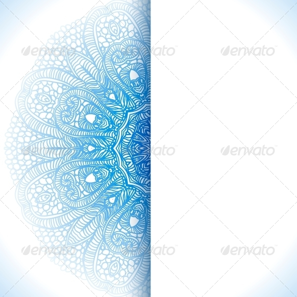 GraphicRiver Blue Winter Round Lace Background 5742021