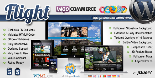 Flight Responsive Fullscreen Background Theme