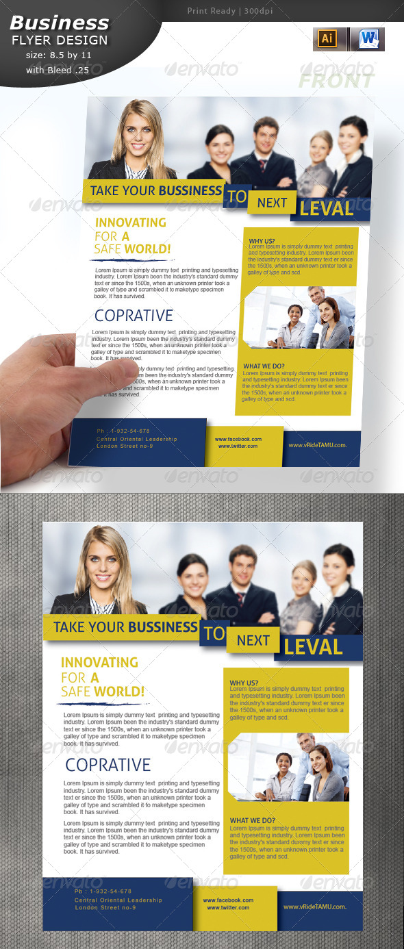 GraphicRiver Business Flyer Design 5742050