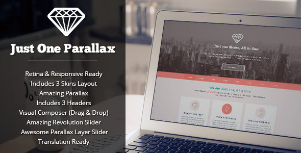 ThemeForest Just One Responsive Parallax WordPress Theme 5742132