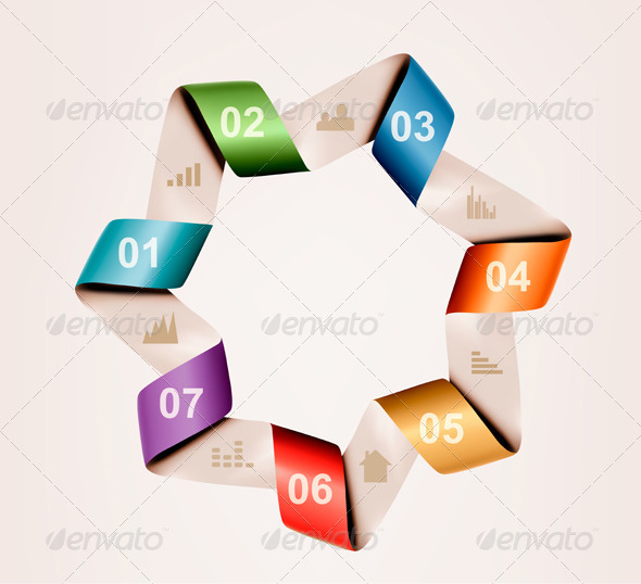 GraphicRiver Info Graphics Banner with Numbers Vector 5742134