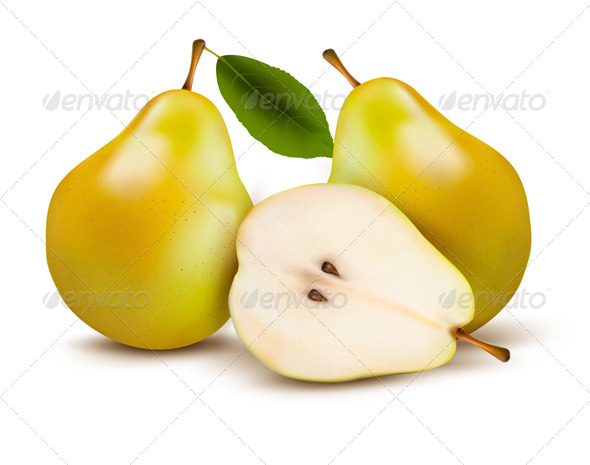 GraphicRiver Fresh Pears Isolated on White 5742135
