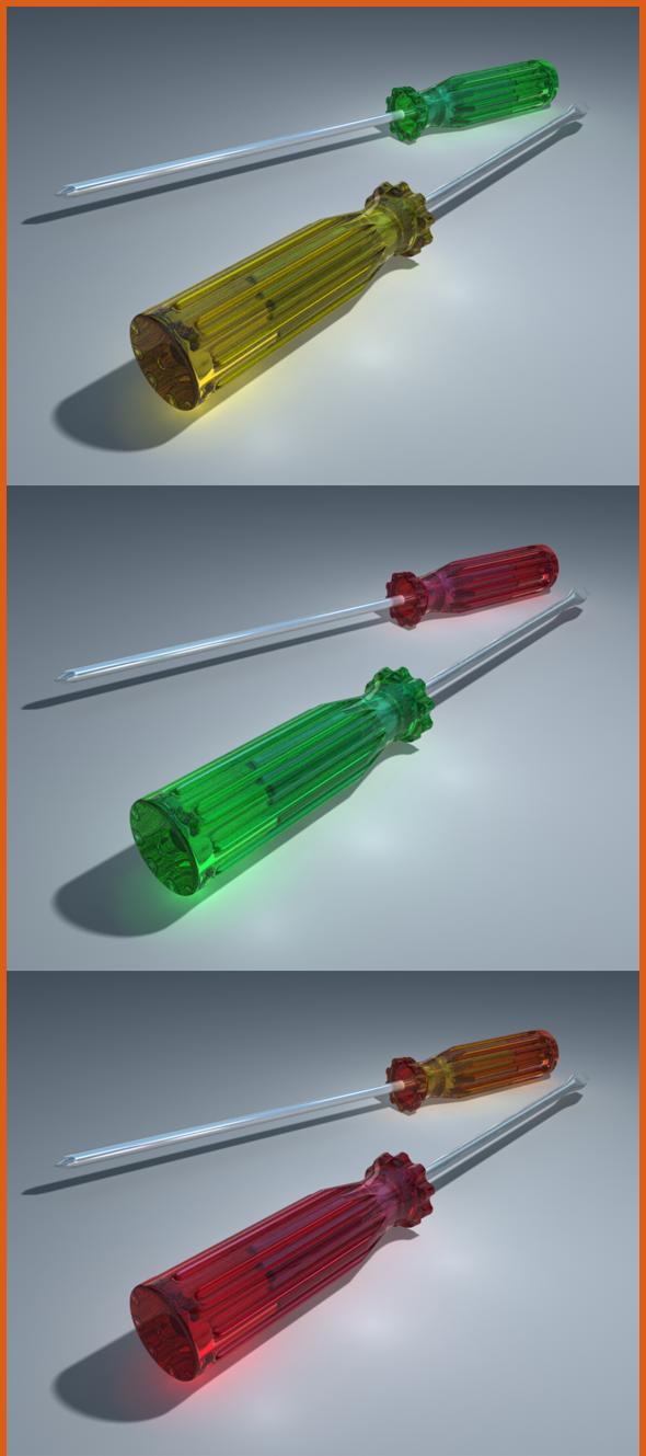3D Screwdriver - 3DOcean Item for Sale