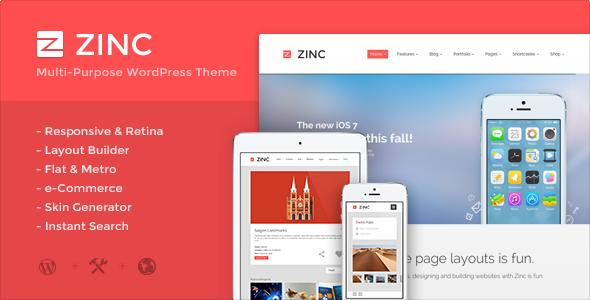 ThemeForest Zinc Multi-purpose WordPress Theme 5716515