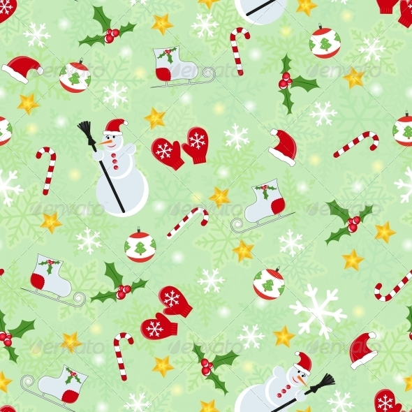 GraphicRiver Seamless Christmas Pattern 5742825