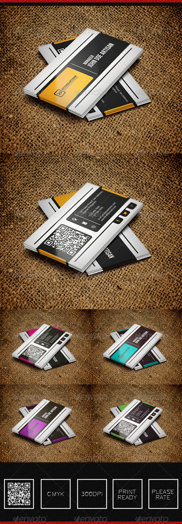 GraphicRiver IntenseArtisan BUSINESS CARD VOL.40 5743004