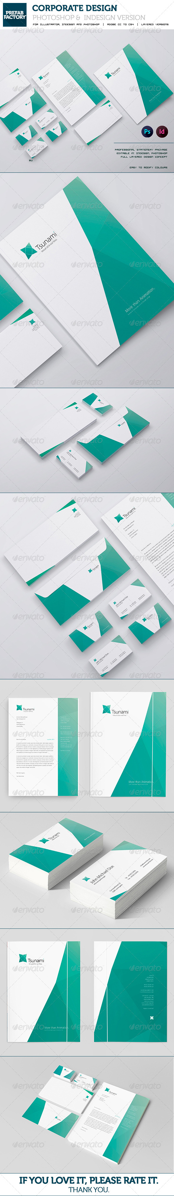 GraphicRiver Stationary and Corporate Identity Kit Tsunami 5676297