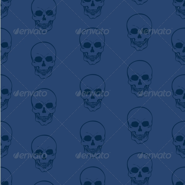 GraphicRiver Vector Seamless Pattern with Skulls 5743372