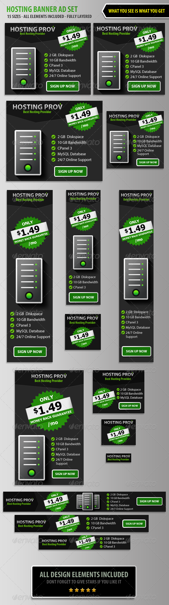 GraphicRiver Hosting Banner ad Set 5743549
