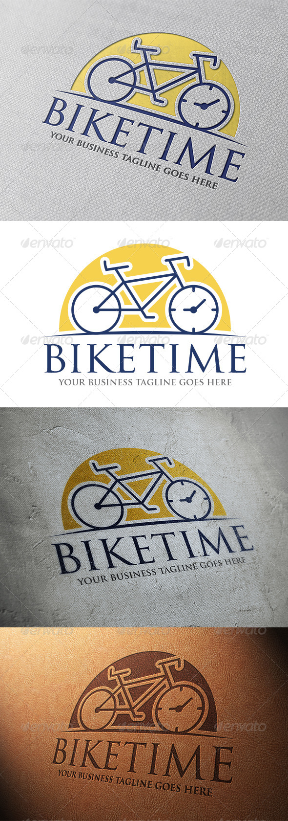Bike Time Logo Template - Objects Logo Templates