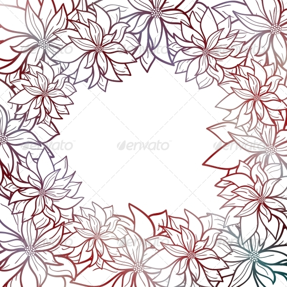 GraphicRiver Vector Abstract Background with Flowers 5743933