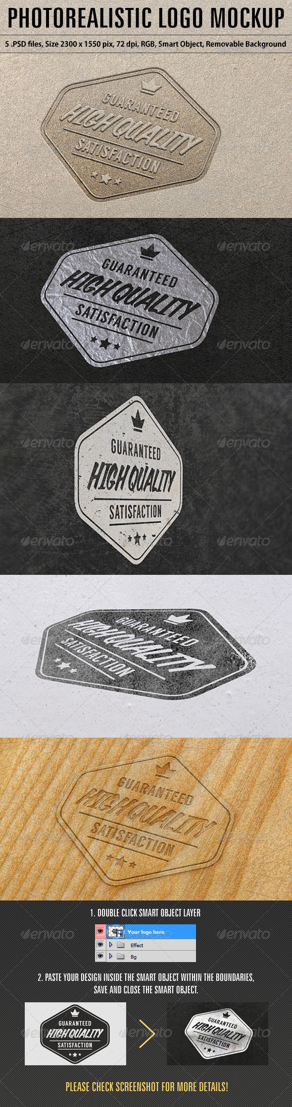 Photorealistic Logo Mockup - Product Mock-Ups Graphics