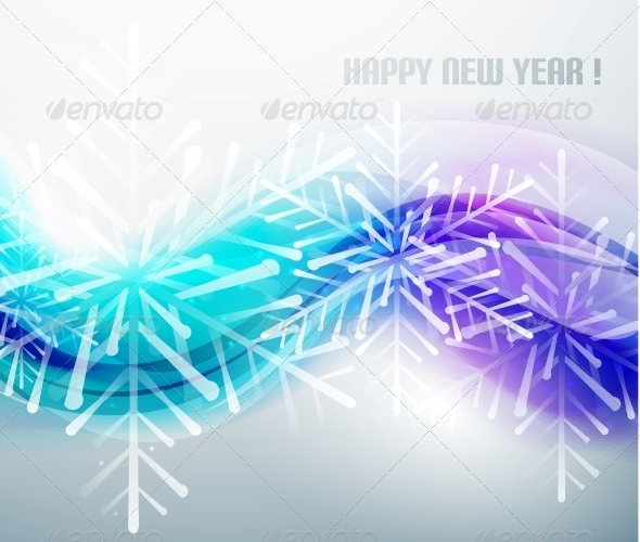 GraphicRiver Blue Business Wave and Christmas Snowflakes 5744144