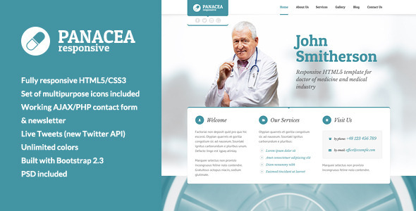 ThemeForest Panacea Responsive Parallax Site Template 5741527