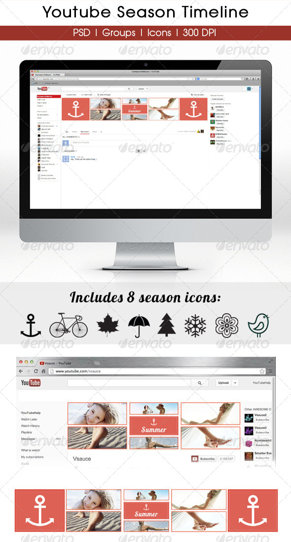 GraphicRiver Season YouTube Timeline 5712323
