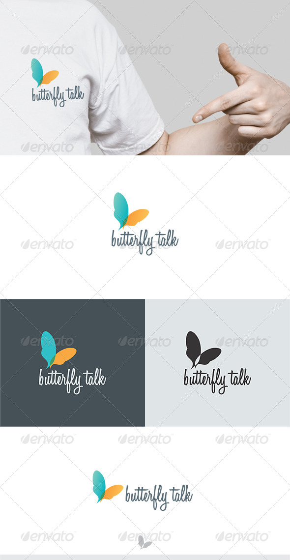 GraphicRiver Butterfly Talk Logo 5744221