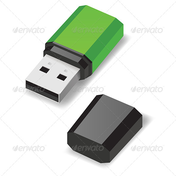 GraphicRiver USB Flash Drive 5744239