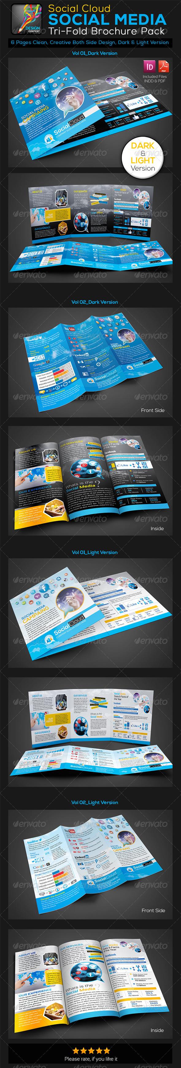 GraphicRiver Social Media Tri-fold Business Brochure 5744378
