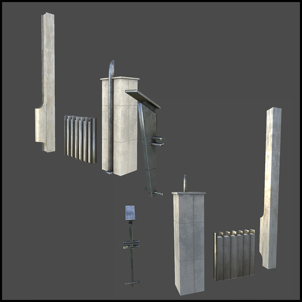 Facade Elements - 3DOcean Item for Sale