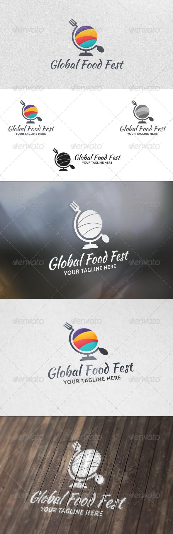 GraphicRiver Food Festival Logo Template 5744438