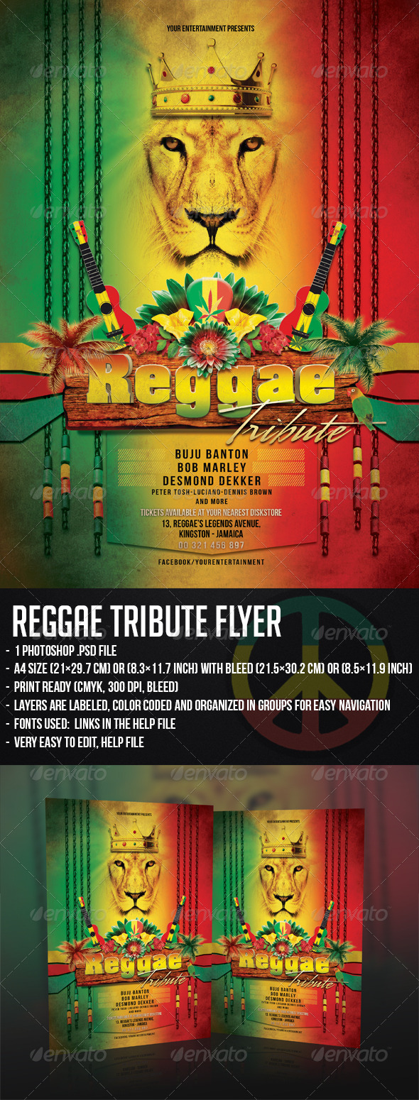 GraphicRiver Reggae Tribute Flyer 5680450