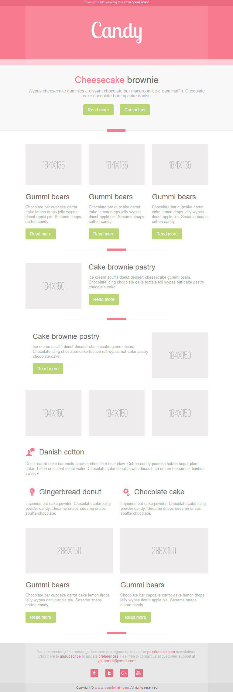 Candy Mail - Responsive E-mail Templates