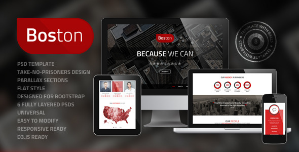 Boston - Corporate PSD Template