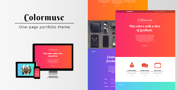 ThemeForest Colormuse One Page Portfolio Muse Theme 5744566