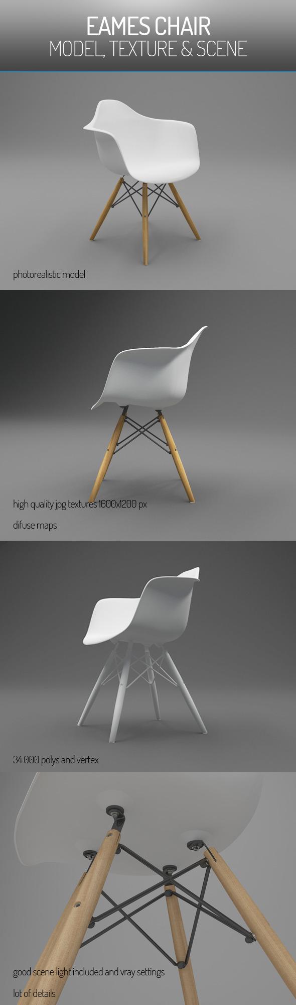 3DOcean Eames Vitra Chair 5744598