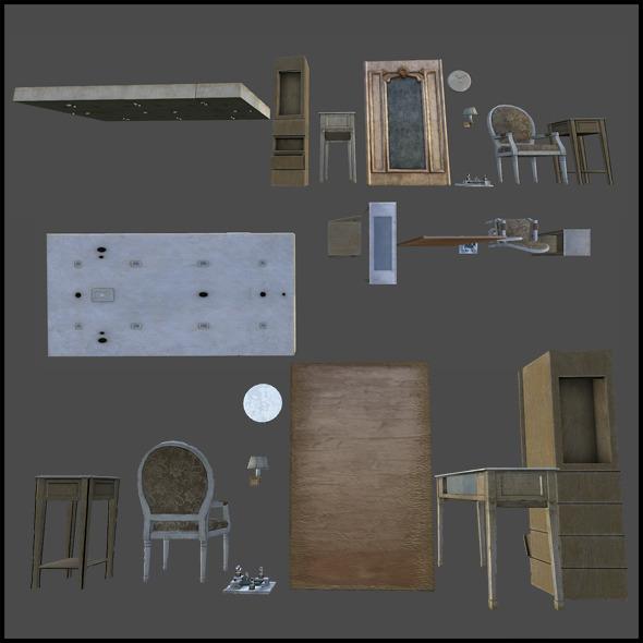 3DOcean Shop Interior Set 5744646