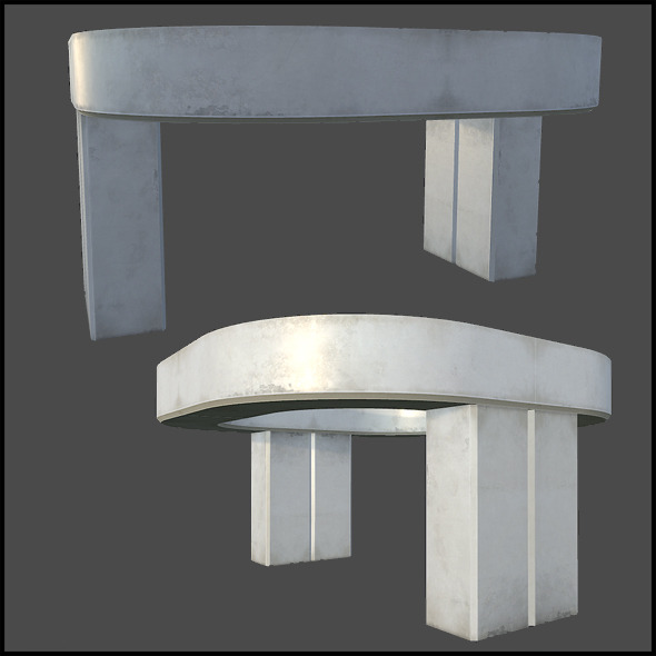 White Concrete Architecture - 3DOcean Item for Sale