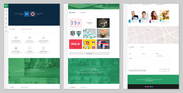 ScrollSide - One Page Parallax Scrolling Template