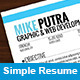 Simple Resume - GraphicRiver Item for Sale