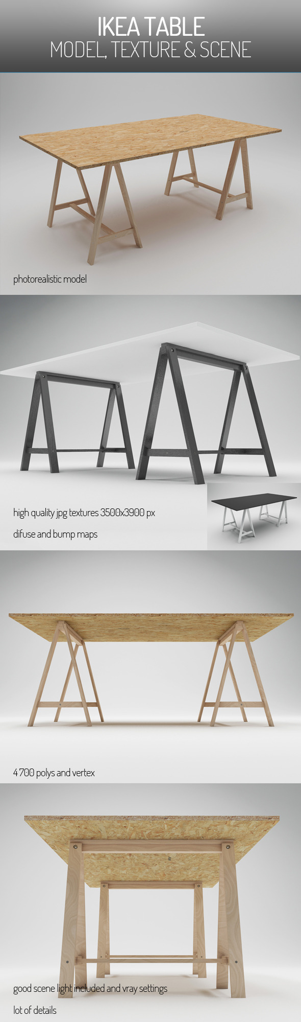3DOcean IKEA Table 5744965