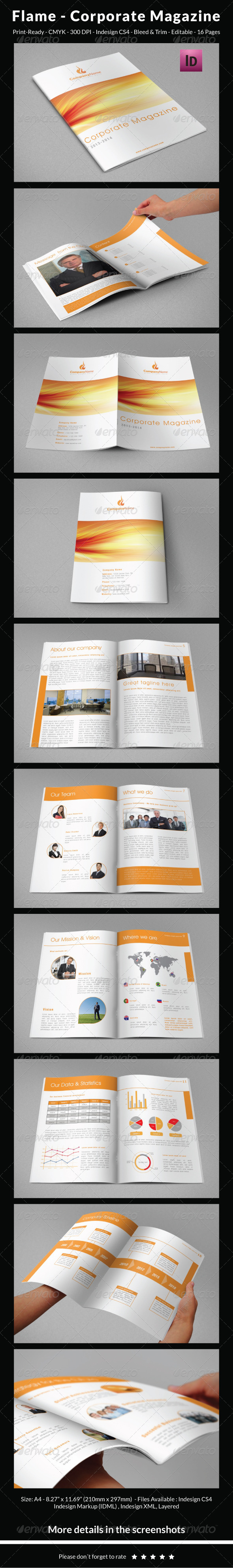 GraphicRiver Flame Company Magazine 5745164