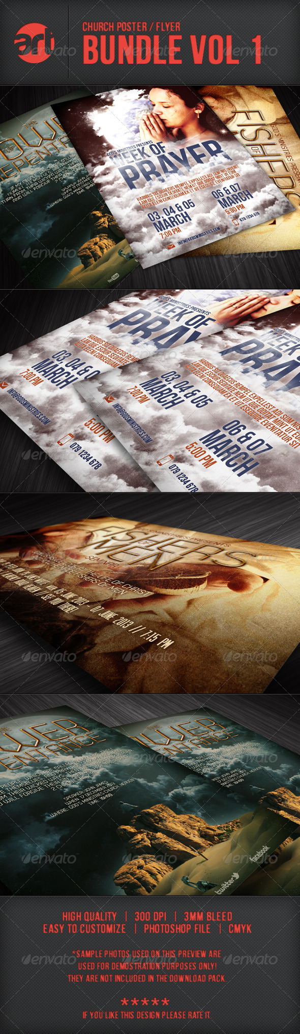 GraphicRiver Church Flyer Bundle Vol 01 5746201