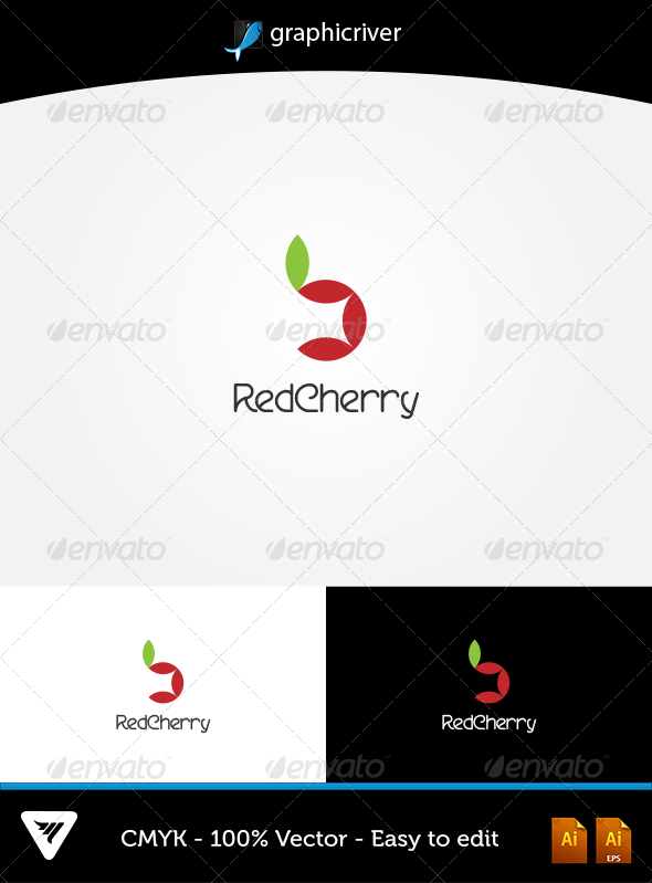 GraphicRiver RedCherry Logo 5746561