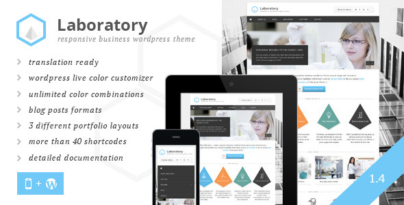 Laboratory Business Theme - Corporate WordPress