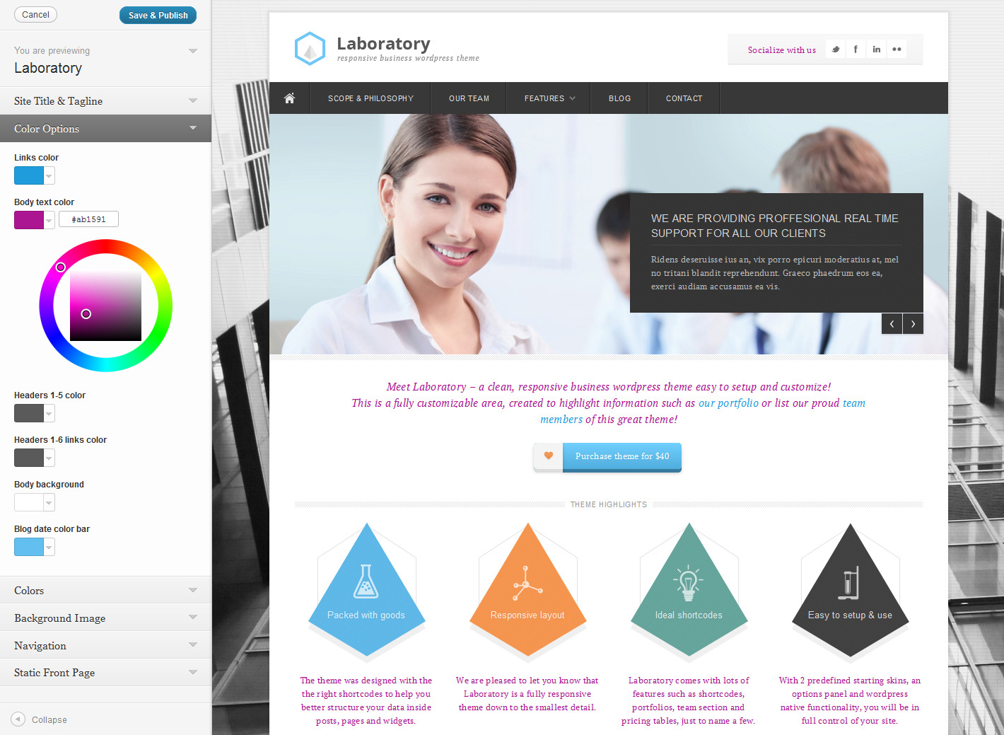 Laboratory Business Theme -