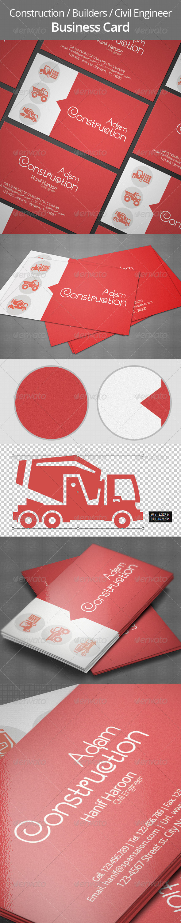 GraphicRiver Builders & Construction Business Card 5746847