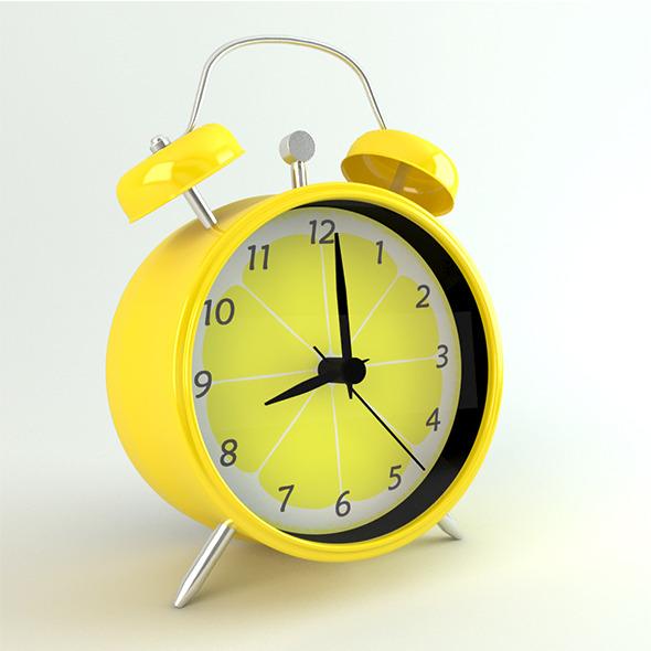Photo-real Retro Coloured Alarm Clock - 3DOcean Item for Sale
